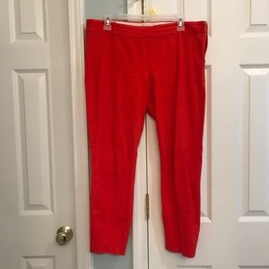 Orangish-Red J. Crew ankle pants